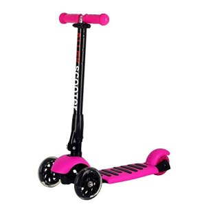 Kick Scooter for Kids Boys Girls Adjustable Height PU Flashing Wheels for Children from 3-14yrs