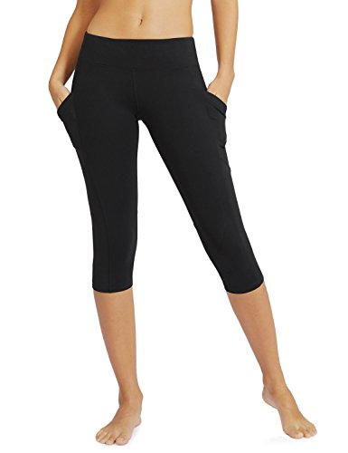 """Baleaf Women's Yoga Workout Capris Leggings Side Pocket for 5.5"""" Mobile Phone Quick-drying, stretchy, breathable material wicks away perspiration to keep you cool  Big side pockets are accessible for 4"""",4.7"""",5"""",5.5"""" Mobile Phone  Elastic belt gives a smooth,secure fit  Perfect for running, yoga and other dynamic interests or lounging  Please do perceive """"Sold by Baleaf Sports"""". This Classic Pocket Series including shorts, capris, and stockings. If it's not too much trouble look """"baleaf side pocket"""" for more related products"""