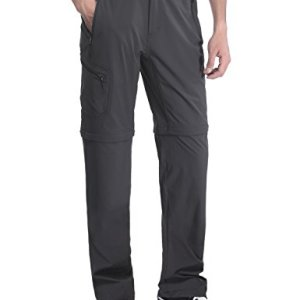 MIERSPORTS Men's Outdoor Cargo Pants Quick Dry Convertible Pants for Travel Hiking Climbing, Water Resistant, 5 Pockets