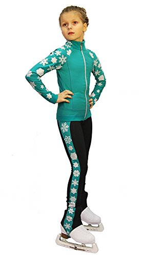 IceDress Figure Skating Outfit - Snowflake (Mint)