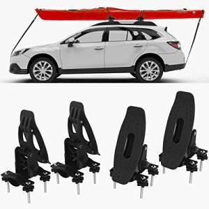 RoofTop Universal Saddles Kayak Carrier Canoe Boat. Surf Ski Roof Top Mounted on Car SUV Crossbar