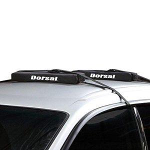 Dorsal Wrap-Rax Surfboard Longboard Soft Rack Pads Straps, 19 Inch