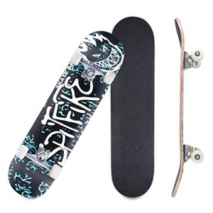 "CCTRO Skateboards 31"" Pro Skateboard Complete, 8 Layer Maple Skateboard Deck for Extreme Sports"