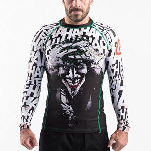 Fusion Fight Gear Batman The Killing Joke BJJ Rash Guard Compression Shirt