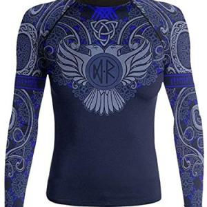 Raven Fightwear Women's Nordic Rash Guard IBJJF Approved MMA BJJ Blue