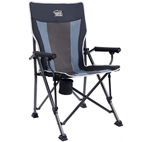 Timber Ridge Camping Chair Ergonomic High Back Support