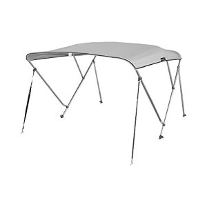 Bimini Top Boat Cover with Rear Support Pole and Storage Boot