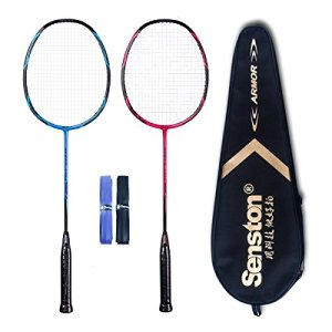 High Grade 2 Player Graphite Badminton Racket Set