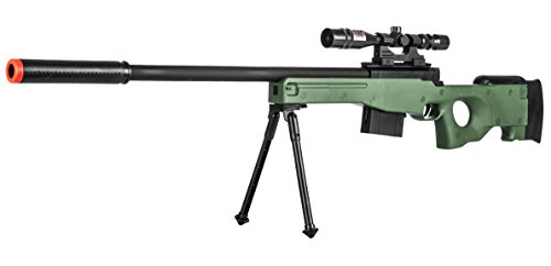 300 FPS - Airsoft Sniper Spring Rifle Gun with Scope and Laser