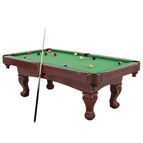 Billiard Table Featuring Traditional Claw Feet and Drop Pockets