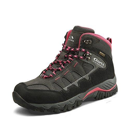 Women's Mid Waterproof Hiking Boot Suede Leather Hiker