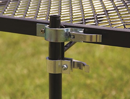 """Texsport Heavy Duty Barbecue Swivel Grill for Outdoor BBQ over Open Fire Stable Steel Development welded of top of the range metal to go over an open campfire  Giant 24"""" x 16"""" Grilling Floor with 28"""" Vertical help Stake. Total dimensions 24"""" L x 16"""" W x 17""""H  Peak adjustable to 17 Inch for optimum warmth  Rotates 360 levels to guard from warmth and flames  a really perfect moveable grill for cooking over a fireplace"""