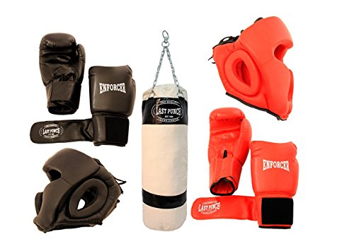 Pairs of Headgears 2 Pairs Pro Boxing Gloves & Punching Bag