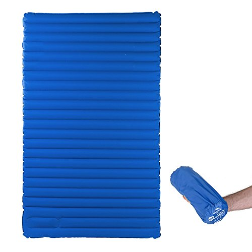 Inflatable Camping Air Mattress with Built-in Foot Pump
