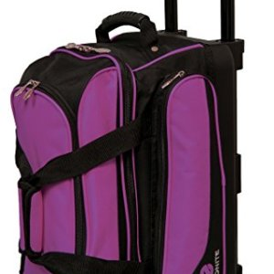Ebonite Transport II Double Roller Bowling Bag, Purple