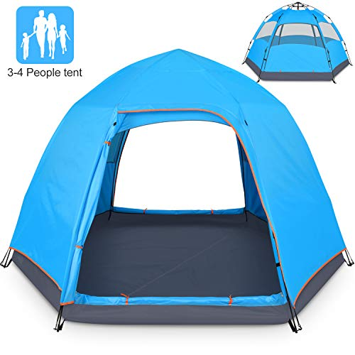 BATTOP 3-4 Person Tent for Camping Double Layer