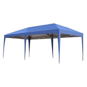 Outsunny Easy Pop Up Canopy Party Tent, 10 x 20-Feet, Royal Blue