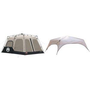 Coleman Instant 8 Person Tent, Black, 14x10-Feet
