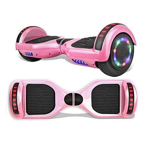 "TPS 6.5"" Hoverboard Electric Self Balancing Scooter with Wireless Speaker and LED Lights for Kids and Adults - UL2272 Safety Certified"