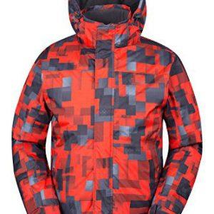 Mountain Warehouse Shadow Mens Printed Ski Jacket - Fleece Lined Winter Snow Jacket
