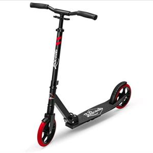 "Lascoota Scooters for Kids 8 Years and up - Featuring Quick-Release Folding System - Dual Suspension System + Scooter Shoulder Strap 7.9"" Big Wheels Great Scooters for Adults and Teens"