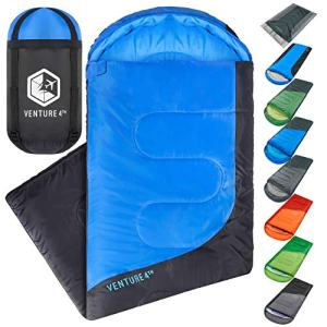 Backpacking Sleeping Bag - Lightweight Warm & Cold Weather Sleeping Bags for Adults, Kids & Couples - Ideal for Hiking, Camping & Outdoor Adventures - Single, XXL and Double