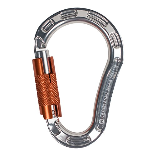 ProClimb Aluminum Forged Screwgate Lock HMS Carabiner Clip | Quality Heavy Duty 22kN Safety Carabiner with Triple-Lock | Perfect for Industrial Work, Rigging, Rock Climbing