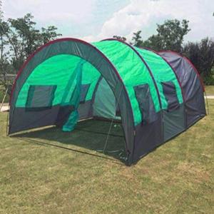 1 Bedrooms 2 Large Living Room 8-10 Persons Camping Tent Family Group Double Poles Hiking Beach Outdoor Tunnel, 2 Large Mesh for Ventilation, Lightweight & Portable with Carry Bag