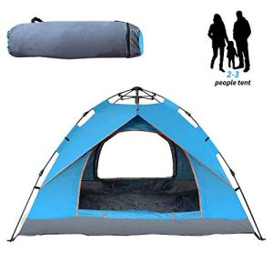 Campingtens Automatic Single Layer Family Tents for 3 Persons, Large Family Camping Tent for Outdoor Hiking,Climbing.