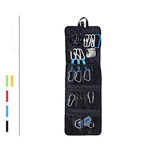 Multi-Purpose Climbing Carabiner Hook Gear Equipment Collection Bag, Durable Foldable Mountaineering Small Tools Organizer Pouch, Water Resistant Arrange Gadget Bag for Camping, Mountaineering