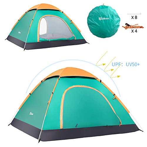 Ubon 2-3 Person Pop up Tent 3 Seconds Instant Tent Lightweight Automatic Portable Tent Backpacking Tent Water Repellent Sun Shelter for Outdoor Indoor Family Camping Picnic Beach