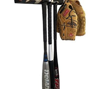 ALPHA BAT RACK (HOLDS 7 BATS) Fence & Wall Mounted STEEL Baseball / Softball Bat Rack / Bat Hooks for Fences and Concrete- Heavy Duty Rack for Baseball Storage and Organization (HARDWARE INCLUDED)