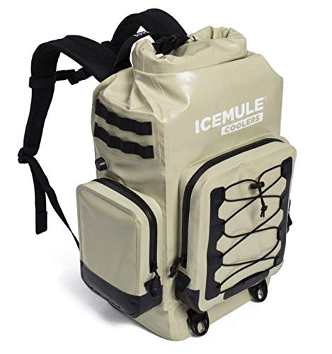 ICEMULE BOSS, The Ultimate Insulated Backpack Cooler Bag - Hands-Free Portable Cooler with Superior Multi-Day Ice Retention -Waterproof Backpack for Hiking, Camping and Fishing-30 Liters, 24 Can, Sand