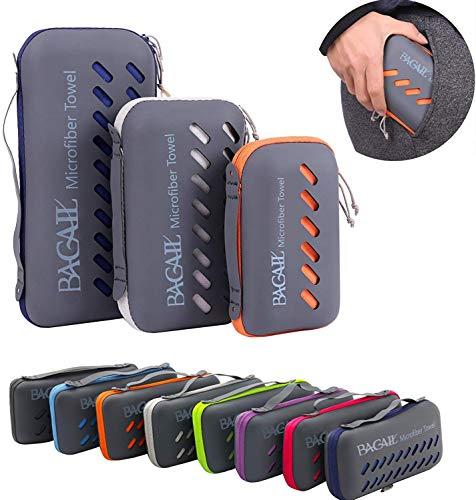 BAGAIL Basics Microfiber Towel Perfect Sports & Travel & Beach Towel. Fast Drying