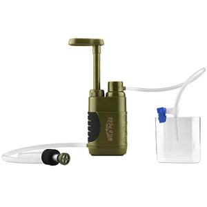 Wild Peak Stay Alive-3 Outdoor Tactical 4-Stage Water Filter Emergency Pump with Activated Carbon for Survival, Camping, Hiking, Climbing, Backpacking (5000 Liters)