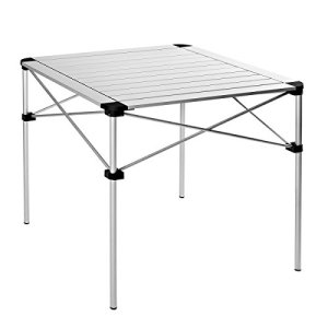 KingCamp Camp Table Collapsible Aluminum Alloy Folding Roll-Top Lightweight Portable Stable Compact and Easy Transport for Camping Outdoor Picnic Vacation