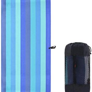 SUNLAND Microfiber Beach Towel Ultra Compact Absorbent and Fast Drying Travel Sports Towels