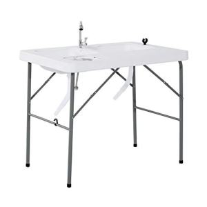 Outsunny Portable Folding Camping Table w/Faucet