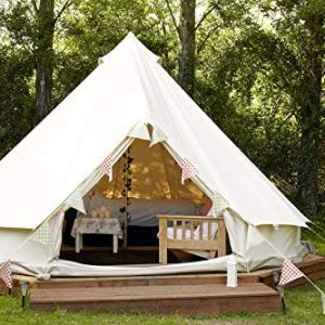 Outdoor Waterproof Luxury Glamping Bell Tents for Boutique Camping and Occasional Family Camping Trips and Festivals and Human shelter for inhabiting or Leisure