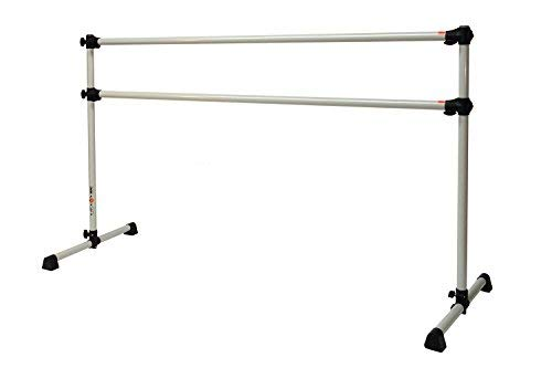 Vita Vibe Aspire Series 4 FT Double Aluminum Freestanding Ballet Barre Stretch/Dance Bar - USA Made