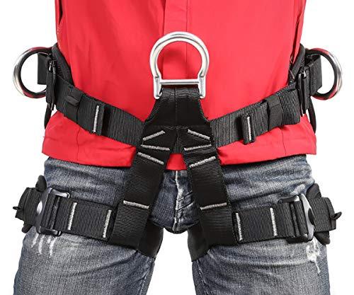 Eleven Guns Adjustable Climbing Harness Rock Climbing Rappelling Equip Tree Protect Fire Rescuing Half Body Waist Safety Belt