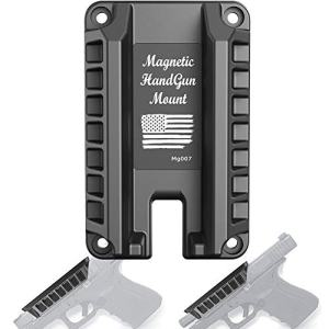 TFNUO Gun Magnet, Magnetic Handgun Mount Quick Holster - Concealed Tactical Firearm Gun Accessories for Cabinet,Vehicle,Truck,Cashier,Table,car