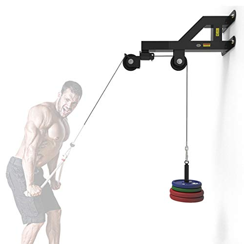 Grist CC Wall Mounted Pulley LAT Station Cable Machine - Perfect for LAT Pull Downs, Tricep Extensions, Tricep Pull Downs and All Cable Machine Exercises - The Ultimate Piece of Home Gym Equipment