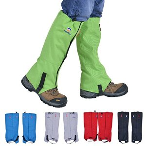 Winis Snow Gaiters Hiking Camping Mountain Climbing Leg Gaiters Oxford Waterproof Dustproof Antiwater Leg Cover Breathable Anti-bite High Gaiters Leg Protection Guard Boot Guardian (1 Pair)