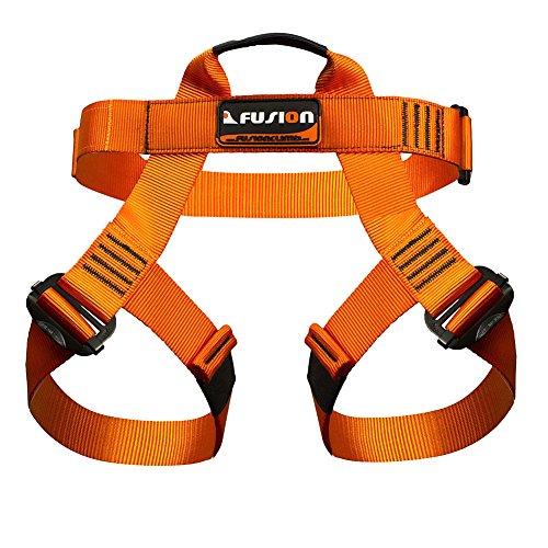Fusion Climb Centaur Half Body Harness Orange M-XL for Climbing Gym & Rope Course