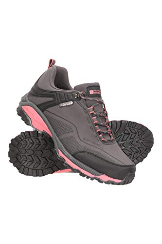 Mountain Warehouse Collie Womens Waterproof Hiking Shoes Walking Sneakers Grey Womens Shoe Size 7 US