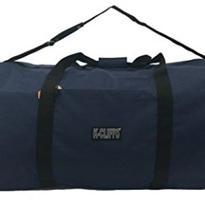 "Heavy Duty Cargo Duffel Large Sport Gear Drum Set Equipment Hardware Travel Bag Rooftop Rack Bag (30"" x 15"" x 15"", Navy)"