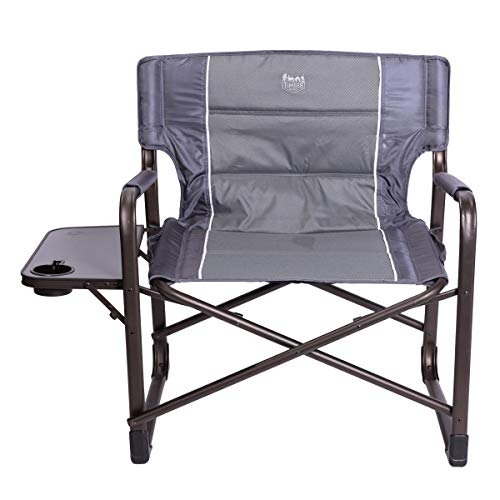"""Timber Ridge XXL Directors Chair Oversized Supports 600 lbs, 28"""" Wide Heavy Duty Folding Camping Chair Fully Padded with Side Table for Outdoor Camp, Patio, Lawn, Garden"""