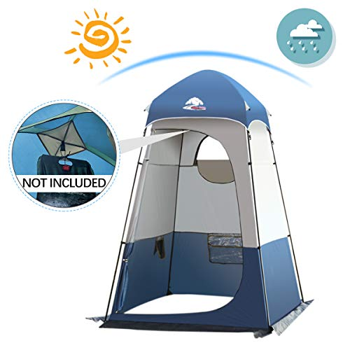 Shower Tent Up Privacy Tent Portable Camping Toilet Tent Outdoor Beach Dressing Changing Bathing Room Camping Privacy Shelters 6.2 ft x 6.2ft x 7.9ft Room Tent