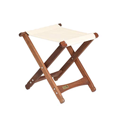 BYER OF MAINE, Pangean, Folding Stool, Hardwood, Easy to Fold and Carry, Wood Folding Stool, Canvas Camp Stool, Perfect for Camping, Matches All Furniture in The Pangean Line, Natural, Single